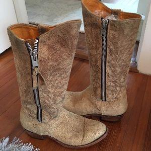 Old Gringo Pseudo Suede Cowboy Boots